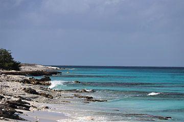 Zeezicht op Klein Bonaire. van Silvia Weenink