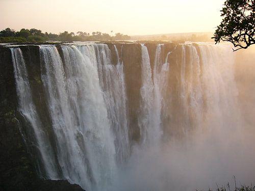 waterfall at sunrise van