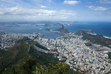 Uitzicht op Rio de Janeiro van Kees van Dun