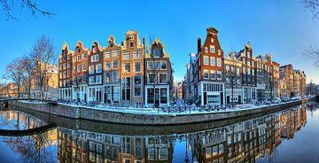 Amsterdam Brouwersgracht panorama sur Dennis van de Water