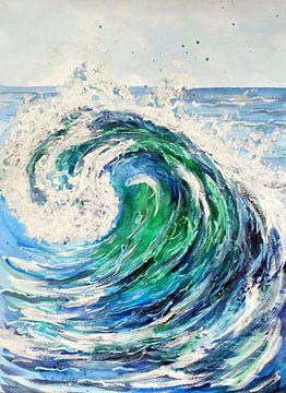 Blaue Welle im Meer von ZeichenbloQ