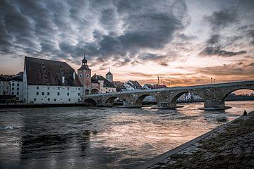 Stenen brug in Regensburg van Thilo Wagner