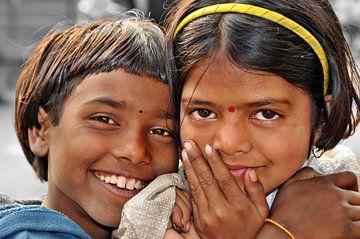 Bedelaars in India van Wim Aalbers