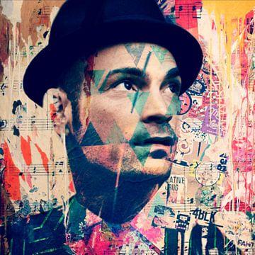 Roger Cicero - Halleluja - in diesem Moment - Plakative Collage von Felix von Altersheim