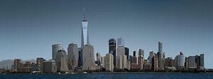 Skyine of New York City van