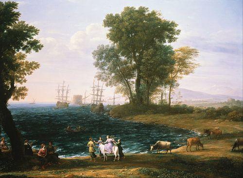 Claude Lorrain. Vergewaltigung von Europa von 1000 Schilderijen