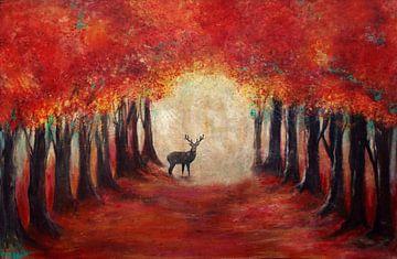 hert in herfstglorie... sur Els Fonteine