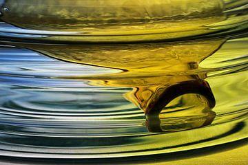 Fles in water, een waar stilleven! van Wim Bodewes