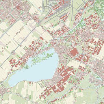 Kaart vanAalsmeer van