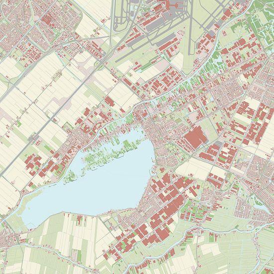 Kaart vanAalsmeer van Rebel Ontwerp