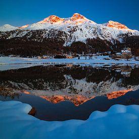 Silvaplana-Surlej - Graubünden - Zwitserland van Felina Photography