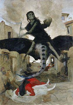 Arnold Böcklin, De Pest, 1898 van Atelier Liesjes