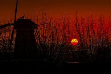 Zonsondergang, Kinderdijk von Carla Matthee