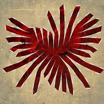 Figuren en vormen - Rood uitwaaierend van Christine Nöhmeier