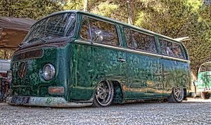 Extreem verlaagde VW bus van Ed Vroom