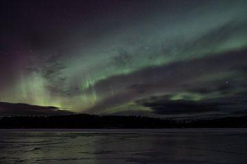 Noorderlicht in Härjedalen van Marco Lodder