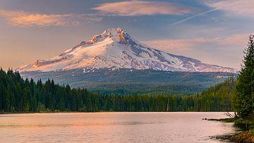Sonnenuntergang Mount Hood von Henk Meijer Photography