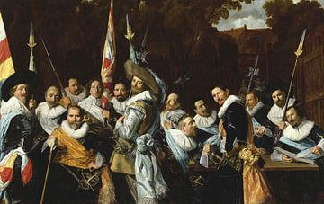 Treffen der Offiziere und Sergeanten der Stadtgarde St. Adrian (die Kalander), Frans Hals
