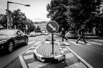 Straatbeeld van Praag van Julian Buijzen