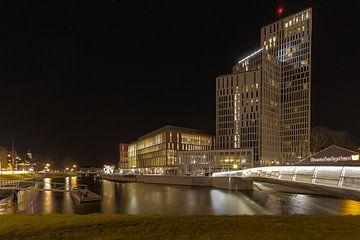 Clarion Hotel Malmö bij nacht van Ivo Bentes