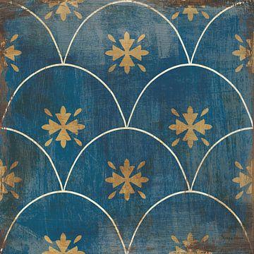 Marokkaanse tegels blauwe vi, Cleonique Hilsaca van Wild Apple