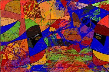 farbige geometrische abstrakte Statuen von EL QOCH