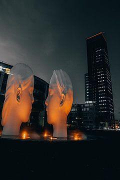 Kunst bij de achmeatoren te Leeuwarden van Derk Visser