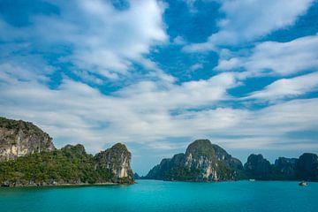 Halong Bay in Vietnam van Rietje Bulthuis