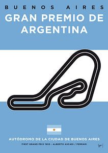 My F1 Buenos Aires Race Track Minimal Poster