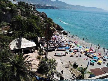 Het strand in Spanje van Sharon vD