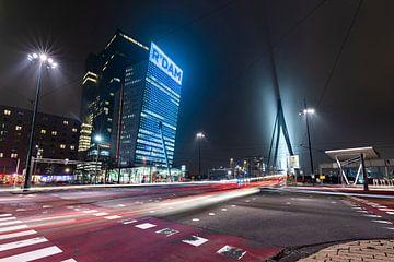 Rotterdam Wilhelminapier lighttrails von Midi010 Fotografie