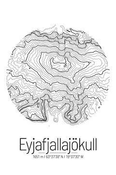 Eyjafjallajökull | Topographie de la carte (minime) sur City Maps