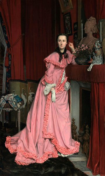 Porträt der Marquise de Miramon, James Tissot von Meesterlijcke Meesters