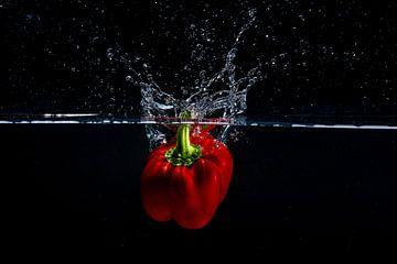 Paprika te water van Marco Schep