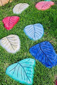 Kleuren steen van