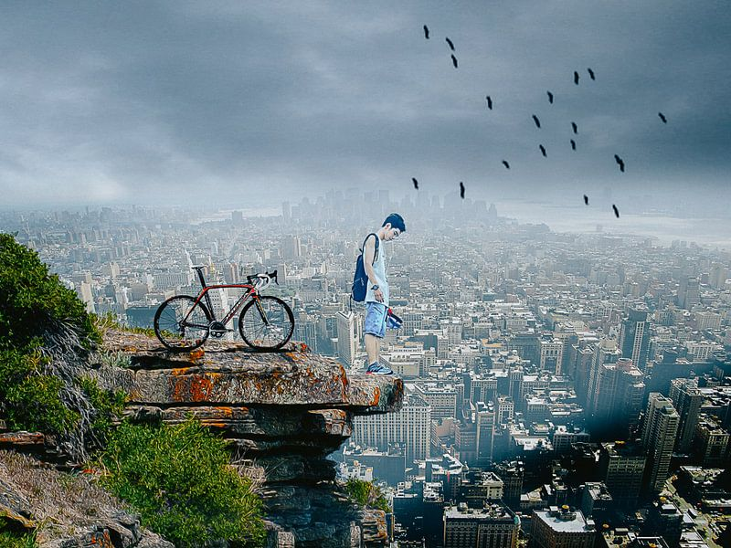 City View - Biker sur novaradalima.art - Ellen Novara-da Lima