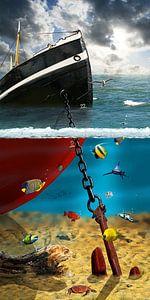 Boven en onder het water