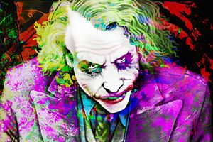 The Joker The Dark Knight 2008 Heath Ledger van Art By Dominic