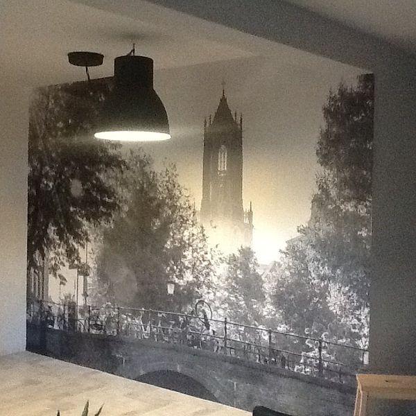 Klantfoto: Ochtend in Utrecht van Mike Peek, op behang