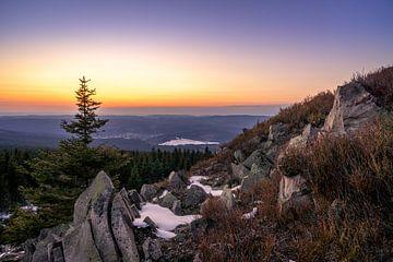 Sonnenuntergang von der Wolfswarte von Steffen Henze