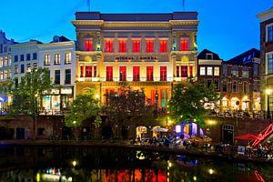 Avondfoto Winkel van Sinkel te Utrecht