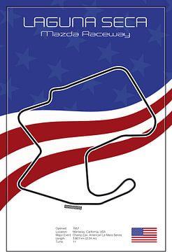 Racetrack Laguna Seca van Theodor Decker