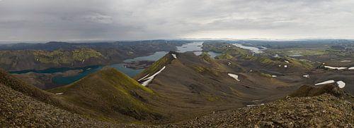 Langisjór ten westen van de Vatnajökull gletsjer