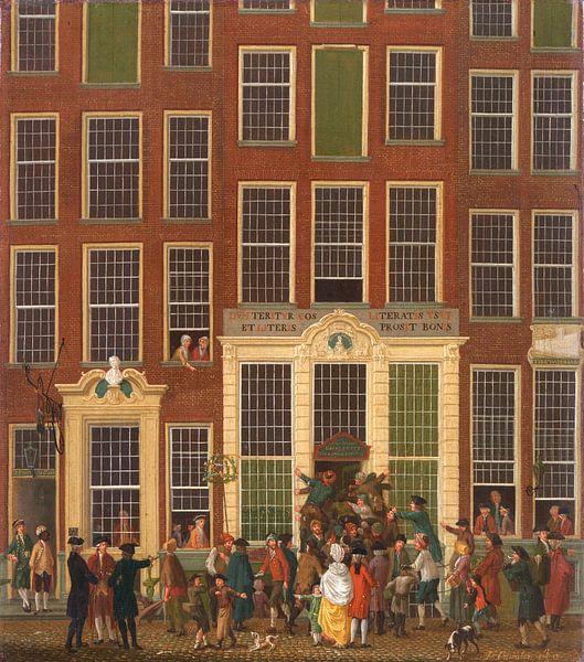 Die Buchhandlung und Lotterie-Agentur von Jan de Groot in der Kalverstraat in Amsterdam, Isaac Ouwat von Meesterlijcke Meesters