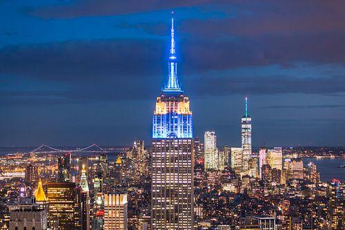 Empire State Building bij Avond van Frenk Volt
