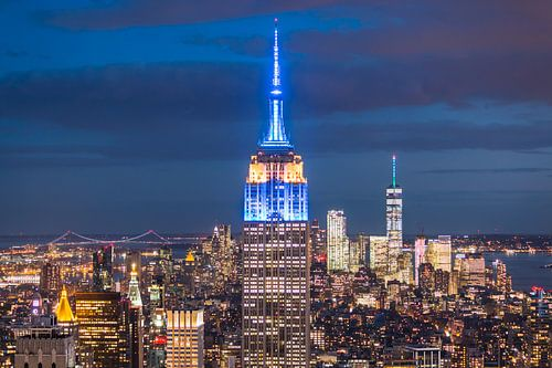 Empire State Building bij Avond