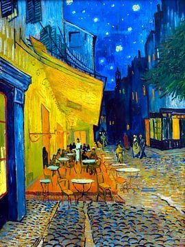 Café-Terrasse bei Nacht - Vincent van Gogh -1888 von Jan Willem van Doesburg