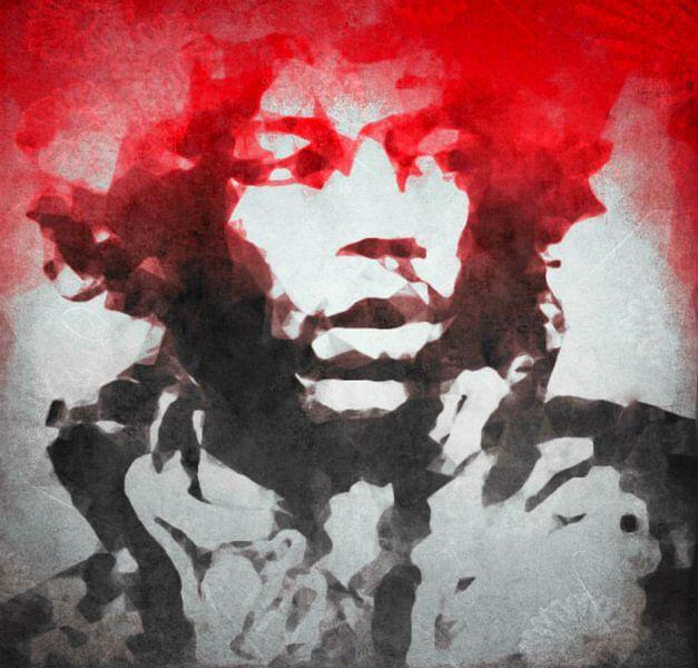 Motiv Jimi Hendrix Watercolour Pop Art von Felix von Altersheim
