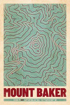 Mount Baker | Landkarte Topografie (Retro) von ViaMapia