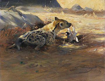 Hyena, WILHELM KUHNERT, 1905 van Atelier Liesjes